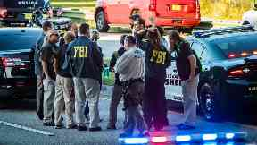 The FBI and police agencies from surrounding counties responded to a mass shooting at Marjory Stoneman Douglas High in Parkland, Florida on 2/14/2018.