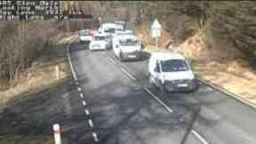 A85: Road has been closed. Glen Ogle