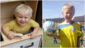 Casper (left) and his brother Corey Platt-May died on Thursday.