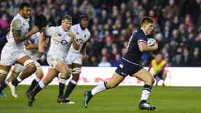 Huw Jones try Scotland England