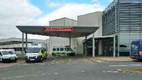 Crosshouse Hospital in Ayrshire