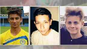 Harry Rice, Josh McGuinness and George Wilkinson were killed