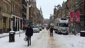 Snow/weather on 28/02/18 #beastfromtheeast