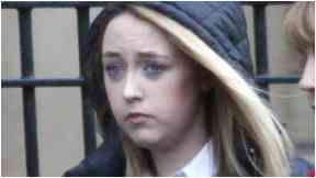 Court: Katie Allan was jailed for 16 months.