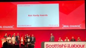 Labour conference sign Keir Hardy