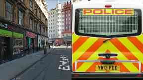 Glasgow: Both were taken to hospital. Sauchiehall Street