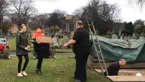 Burial service for plague victims found under St Mary's RC Primary in Leith.