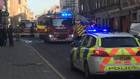 Causewayside: More than 15 firefighters tackled blaze. Edinburgh