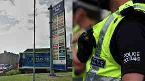 Falkirk: Attacker fled in car after attack. Central Park retail park