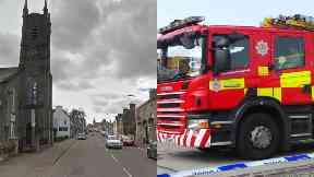 Blaze: Around 15 firefighters called. Auchterarder