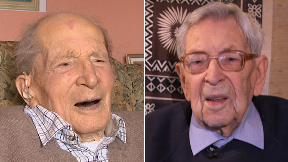 Alf Smith, from Perthshire, and Bob Weighton, from Hull, are Britain's oldest men at 110-years-old.