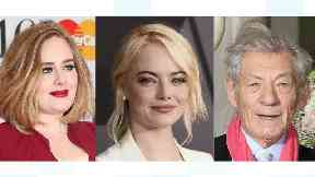 Adele joins Emma Stone and Sir Ian McKellen in officiating a wedding.