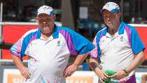 Bowls team Alex Marshall and Paul Foster.