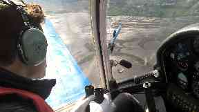 Pilot in sky