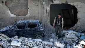 The devastated town of Douma was the scene of a chemical attack