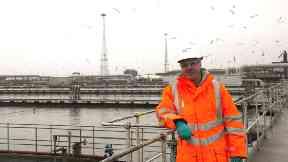 Ian Carnevale, Seafield waste water sewage worker.