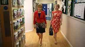 Nicola Sturgeon and Shona Robison