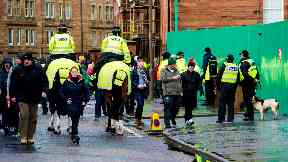 Easter Road: Fans will be searched ahead of match. Hibs Celtic