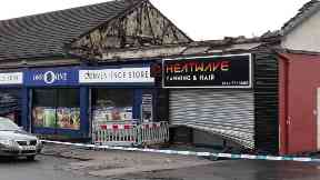 Easterhouse: More than 20 firefighters battled flames. Lochend Road