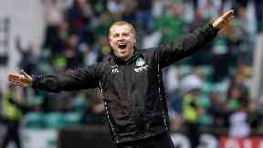 Response: Lennon celebrated late equaliser.
