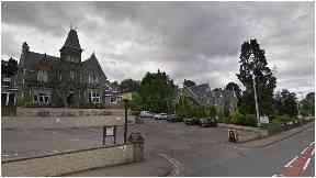 The man was found near the  Cruachan Hotel