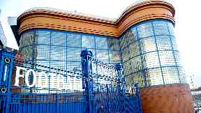 Glasgow: Ibrox, the home of Rangers FC.