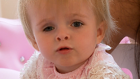 Harley Shevill was just 10 months old when she was diagnosed with eye cancer retinoblastoma.