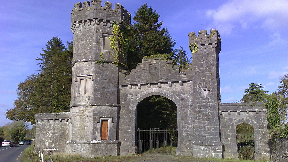 Knockdrin Castle entrance.