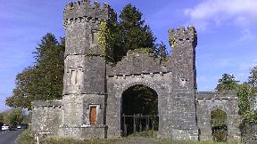 Knockdrin Castle entrance.