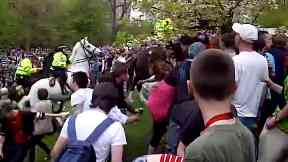 Riot in Kelvingrove Park, Glasgow, on 29/4/11