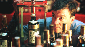 Macallan Valerio Adami 1926 60-year-old with whisky consultant Martin Green from Christies Auction House in 1999 (FILE PIC).