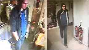 Collage of man sought over indecent incident in Princes Street Debenhams, Edinburgh, Monday 7 May.