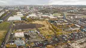 Shawfield, South Lanarkshire. Part of the area targeted for regeneration by Clyde Gateway.