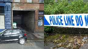 Cordon: Police have taped the lane off. St Pauls Court Dundee