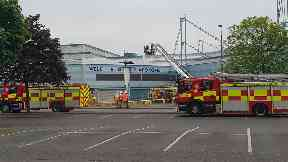 Play Drome: Around 45 firefighters called. Clydebank