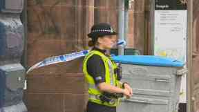 Police: Alleyway was cordoned off. Seagate Dundee