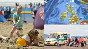 Heatwave: High temperatures across Scotland. Sun
