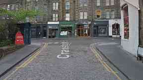 Cranston Street near Royal Mile, Edinburgh.