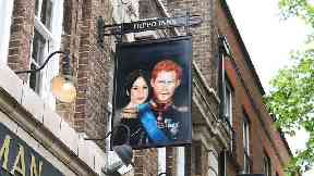 Duke of Sussex pub honours newly-married couple with portrait swing sign