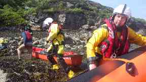 Applecross: The family were in two kayaks and a canoe. Wester Ross
