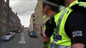 Death: Street cordoned off by police.