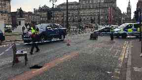 Glasgow george square sink hole