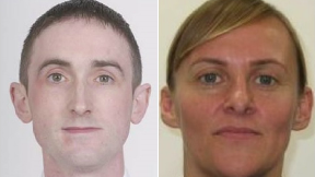 Injured police Scotland officers Laura Sayer, 39, and Kenny MacKenzie, 43,