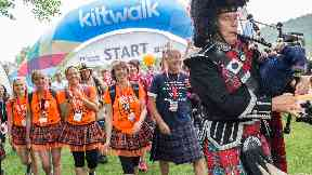 Aberdeen Kiltwalk on 3/6/18