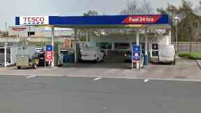 Tesco petrol station in Penicuik, Midlothian.