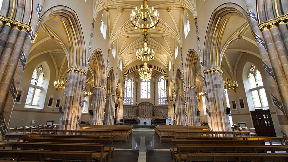 Interior of St Andrew's Cathedral, Glasgow.