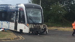 Edinburgh airport tram and bus crash.