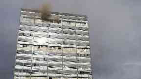 Fire at tower block on Ballater Street in Glasgow
