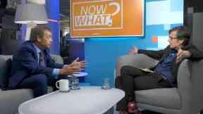 Nigel Farage and Robert Peston