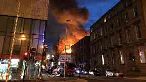 In Pictures: Major fire guts Glasgow's Mackintosh Building